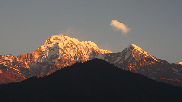 annapurna south from Aus Camp