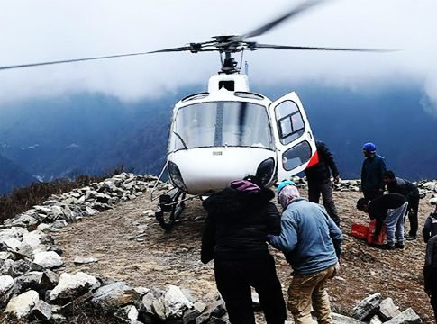 helicopter rescue scam in nepal